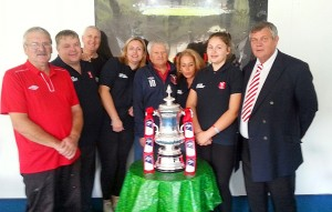 Whitehawk staff with THE FA Cup