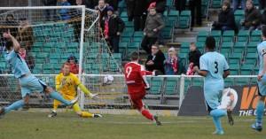 2014-214 boreham w home Jake Robinson firing Whitehawk into an early lead